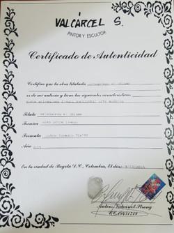 Arlequines el Chisme - Certificado de Au
