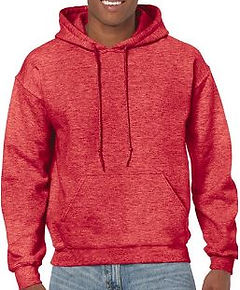 Buso perchado capucha rojo jasped gildan