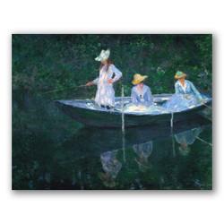 En la barca-Copia obras arte claude monet