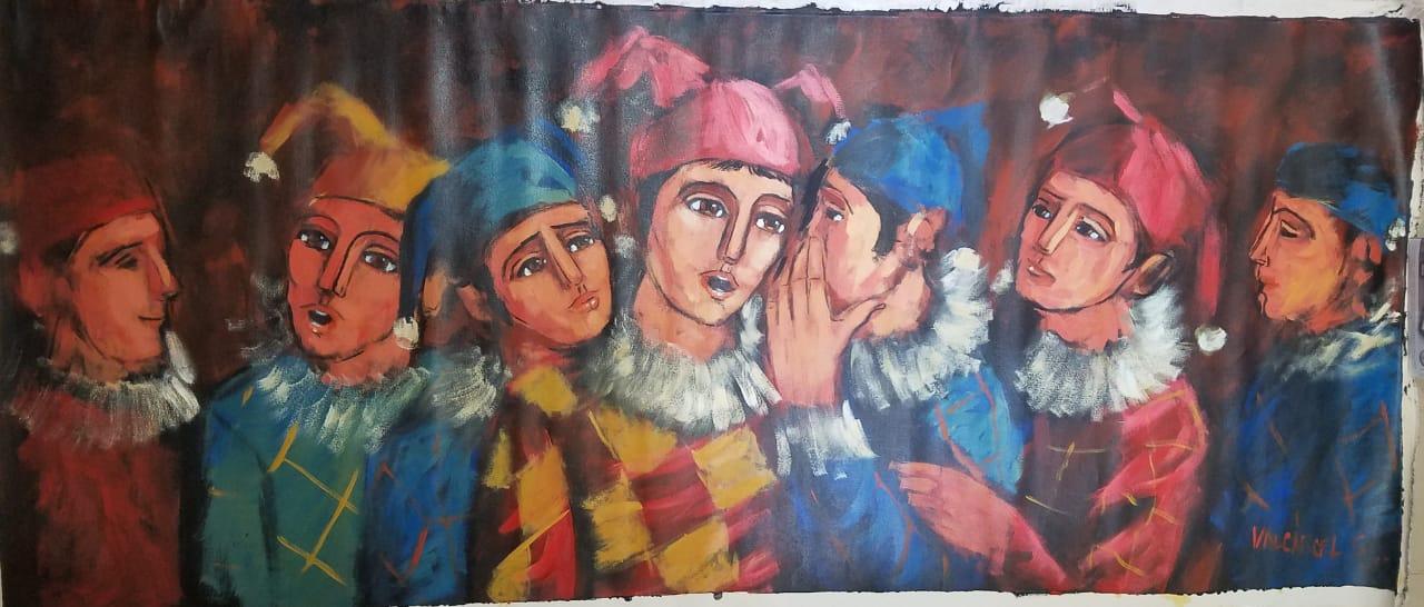 Arlequines el Chisme - Obras de Arte