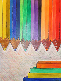 Colored Pencils - Venta de pinturas de obras de arte