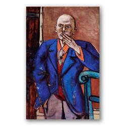 Autorretrato con chaqueta azul-Copia obras arte max beckmann