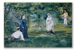 Un juego de croquet-Copia obras de arte famosas edouard manet