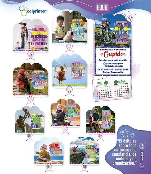 Almanaques y calendarios publicitarios imantados mensajes Ref6006.JPG