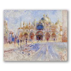 La plaza san marcos-Copia de obras de arte famosas pierre auguste renoir