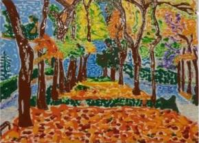 Camino alegre - Obras de arte