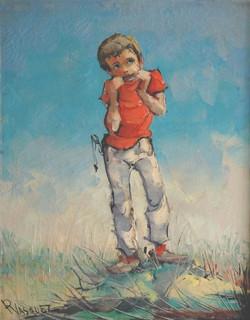 Niño con armonica - Obras de arte