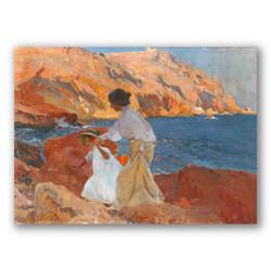 Clotilde y elena en las rocas-Copia obras arte joaquin sorolla y bastida