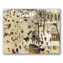 La plaza del teatro frances-Copia obras de arte famosas camille pissarro