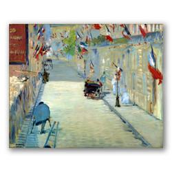 La rue mosnier con banderas-Copia obras de arte famosas edouard manet