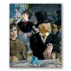 En el cafe-Copia obras de arte famosas edouard manet