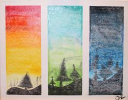 From dawn to dusk - Venta de pinturas de obras de arte