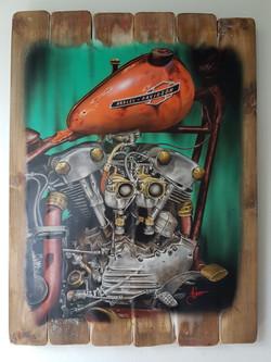 La vieja Harley 3 - Obras de arte Aerografo