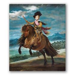 El principe Baltazar Carlos a caballo-Copia obras arte diego velazquez