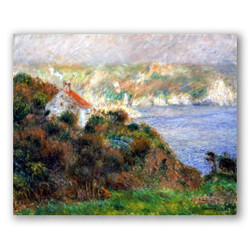 niebla en guernsey-Copia de obras de arte famosas pierre auguste renoir