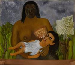 Mi nana y yo-Copia obras arte famosas frida kahlo