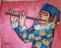 Arlequin Flautista - Obras de Arte