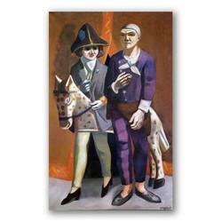 El artista y su esposa-Copia obras arte max beckmann