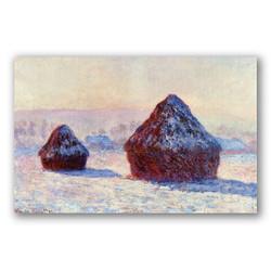 Pilas de trigo en la nieve-Copia obras arte claude monet