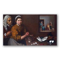 Cristo en casa de Marta y María-Copia obras arte diego velazquez