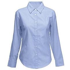 Camisa oxford para mujer manga larga dot