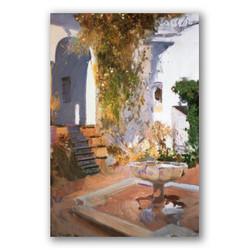 Gruta del jardin de sevilla-Copia obras arte joaquin sorolla y bastida
