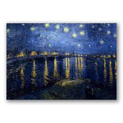 La noche estrellada sobre el Rodano-Copia obras arte famosas vincent van gogh