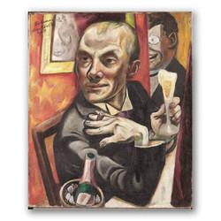 Autorretrato con copa de champan-Copia obras arte max beckmann