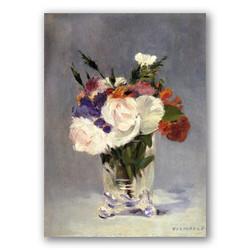 Flores en jarron de cristal-Copia obras de arte famosas edouard manet