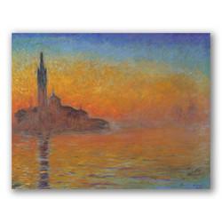 Crepúsculo en Venecia-Copia obras arte claude monet