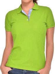 Camisetas tipo polo limon mujer uniforme