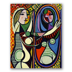 Niña frente al espejo-Copia obras arte pablo picasso