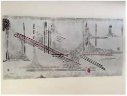 Camina sobre lineas rojas y negras - Obras de arte