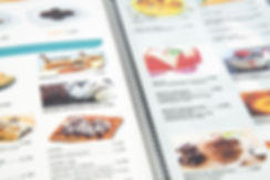 Carta de menú argollado restaurantes med