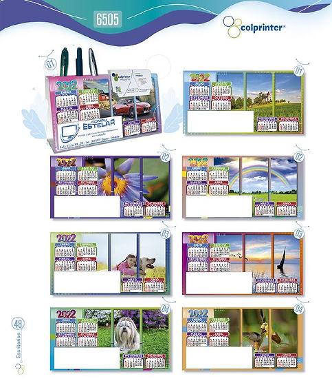 Almanaques y calendarios publicitarios escritorio triangulo ref 6505 medellin.JPG