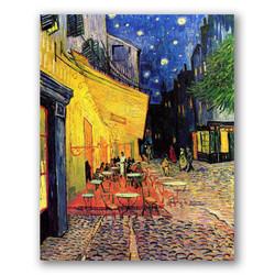 Terraza de café por la noche-Copia obras arte famosas vincent van gogh