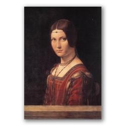 La belle ferroniere-Copia obras arte leonardo da vinci