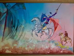 El quijote y sancho panza - obras de arte