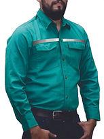 dotaciones empresariales camisa drill verde claro reflectivo medellin.jpg