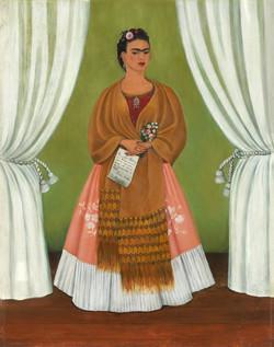 Autorretrato dedicado a leon trotsky-Copia obras arte famosas frida kahlo