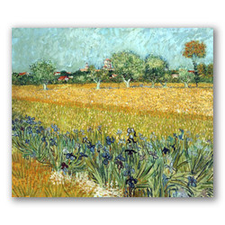 Campo con flores-Copia obras arte famosas vincent van gogh