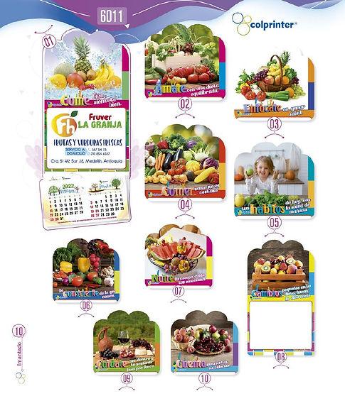Almanaques y calendarios publicitarios imantados fruver Ref6011.JPG