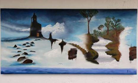 Camino a las nubes - Obras de arte