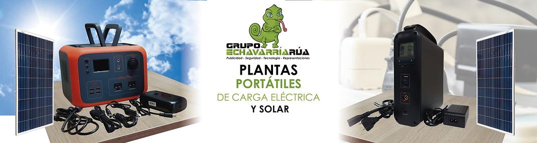 Plantas o generadores portatiles de carg