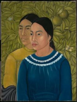 Dos mujeres salvadora y herminia-Copia obras arte famosas frida kahlo