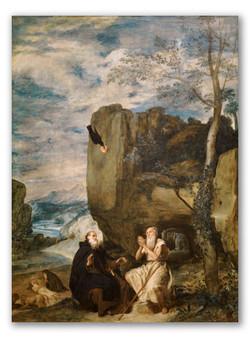 San Antonio Abad y San Pablo-Copia obras arte diego velazquez