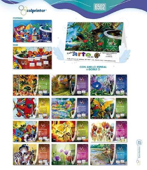 Almanaques y calendarios publicitarios escritorio arte ref 6502 medellin.JPG