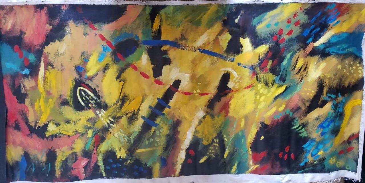 Abstracto un Paseo Por La Jungla - Obras