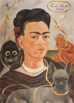 Autorretrato con changuito-Copia obras arte famosas frida kahlo