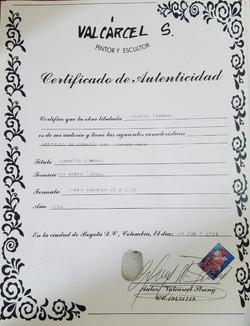 Caballo Timonel - Certificado de Autenti